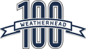 Weathered 100 logo
